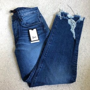 Free People 3x1 Higher Ground Boyfriend Crop Jeans